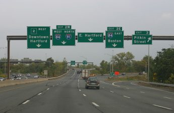 Rte. 2 in Connecticut near Hartford.