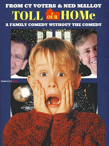 Toll Home Home Alone movie poster spoof meme